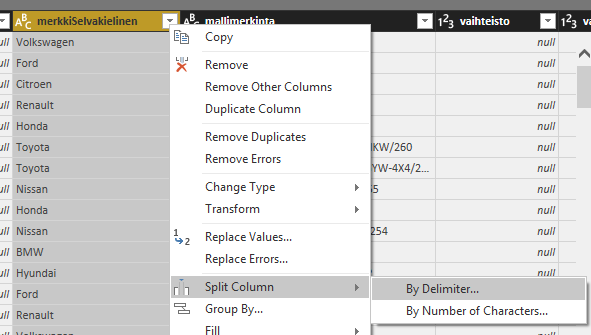 PowerBI query editor split rows.png