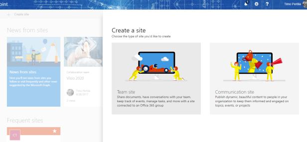 create communication site