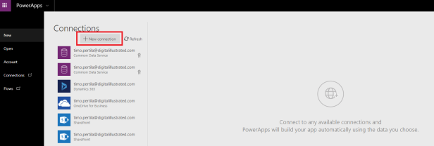 create new app step2