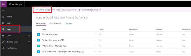 new powerapps