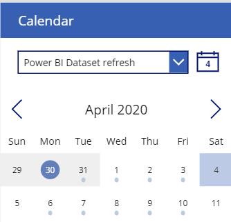 kalenteri template starting date